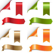 Color Ribbons Set — Vettoriale Stock