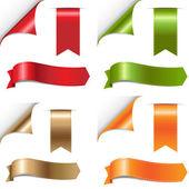 Renkli şerit kümesi — Stok Vektör