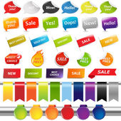 Set Of Colorful Sale Stickers And Labels — Stock Vector
