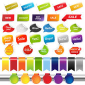 Set Of Sale Stickers And Labels — Stock Vector