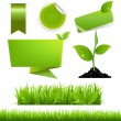 Green Eco Set — Stock Vector #9232376