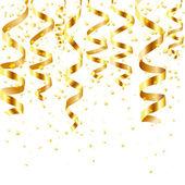 Flujo de oro que se encrespa — Vector de stock