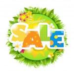 Summer Sale Design Template — Stock Vector