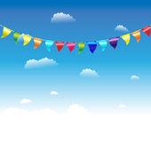 Birthday Flags — Stock Vector