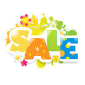 Summer Sale Design — Stock Vector