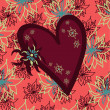Royalty-Free Stock Vectorafbeeldingen: Heart with a floral background