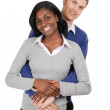 Business couple clutching each other — Stock Photo