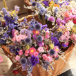 Bouquet of dried flowers of all colors — Stock Photo