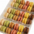 Stock Photo: Assortment of macaroons on white background