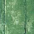 Cracked old green paint texture closeup — Stock Photo