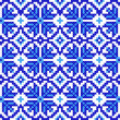 Seamless embroidered good like handmade cross-stitch pattern - Vektorgrafik