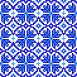 Seamless embroidered good like handmade cross-stitch pattern - Image vectorielle