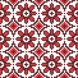 Seamless embroidered good like handmade cross-stitch pattern - Vettoriali Stock 