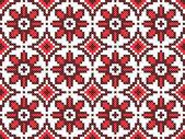 Sem costura bordado bem como padrão de bordado artesanal — Vetor de Stock