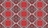 Seamless embroidered good like handmade cross-stitch pattern — Stock Vector