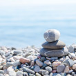 Stock Photo: Zen stones on beach