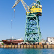 Port crane in Sevastopol — Stock Photo