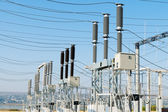 General view to high-voltage substation — Stock Photo