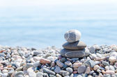 Zen stones on beach — Stock Photo