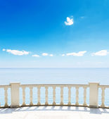 View of the sea from a hotel terrace — Stock Photo
