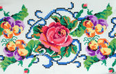 Embroidered good by cross-stitch pattern — Stock Photo