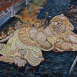 Thai Mural Painting on the wall — Foto Stock