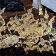 Thai Mural Painting on the wall — Foto de Stock