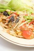 Som Tum , Papaya salad thai style. — Stock Photo