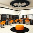 Luxurious interior of a beauty salon with creative ceiling - Stock fotografie