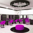 Stock Photo: Luxurious interior of a beauty salon with creative ceiling