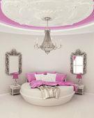 Ceiling decor in modern bedroom — Stock Photo