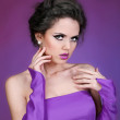 Attractive portrait of beautiful woman model with fashion makeup — Stock Photo #8401361