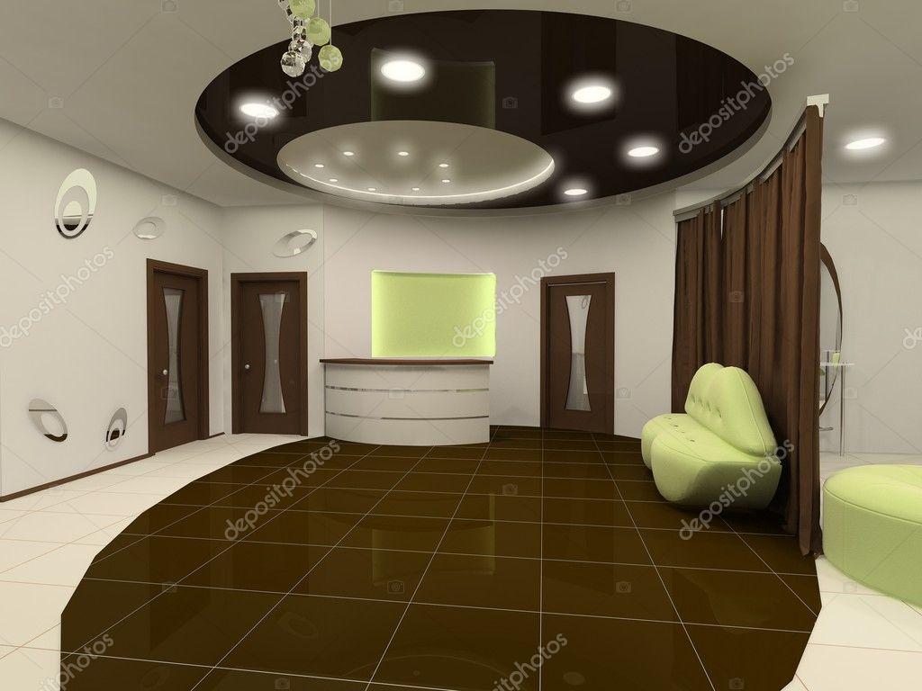 Perspektiv tak konstruktion inredning och design salong utrymme ...