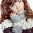 Teenage Girl Portrait wearing winter clothes — Stock Photo #9621507