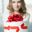 Giving present — Stock Photo #10315845