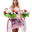 Young blond woman with wedding accessories — Stock Photo #8597083