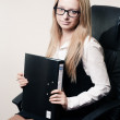 Business woman in chair — Stock Photo #9117641