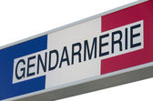Sign Gendarmerie, french police — Stock Photo