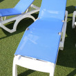 Blue deckchair — Stock Photo