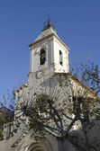 Church steeple in Beaumes de Venise, France — Stock Photo