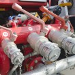 Valves of fire truck — Stock Photo