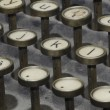 Keys of old typewriter — Stockfoto #9000263