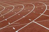 Turns running track — Stock Photo
