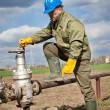 Royalty-Free Stock Photo: Worker in the oil industry on oil pump