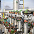 Industries of oil refining and gas,valve for oil — Stockfoto