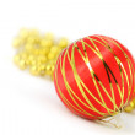 Merry christmas ball decoration — Stock Photo