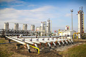 Industries of oil refining and gas — Stock Photo