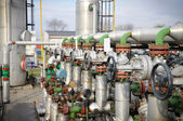 Industries of oil refining and gas,valve for oil — Foto Stock