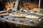 老 carpentery — 图库照片