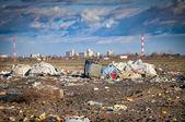 Waste on the junkyard — Stock Photo